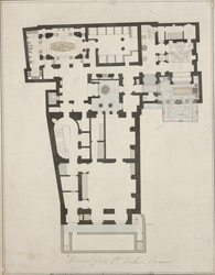 [Drawn plan of Sir John Soane's House in Lincolns Inn Field]